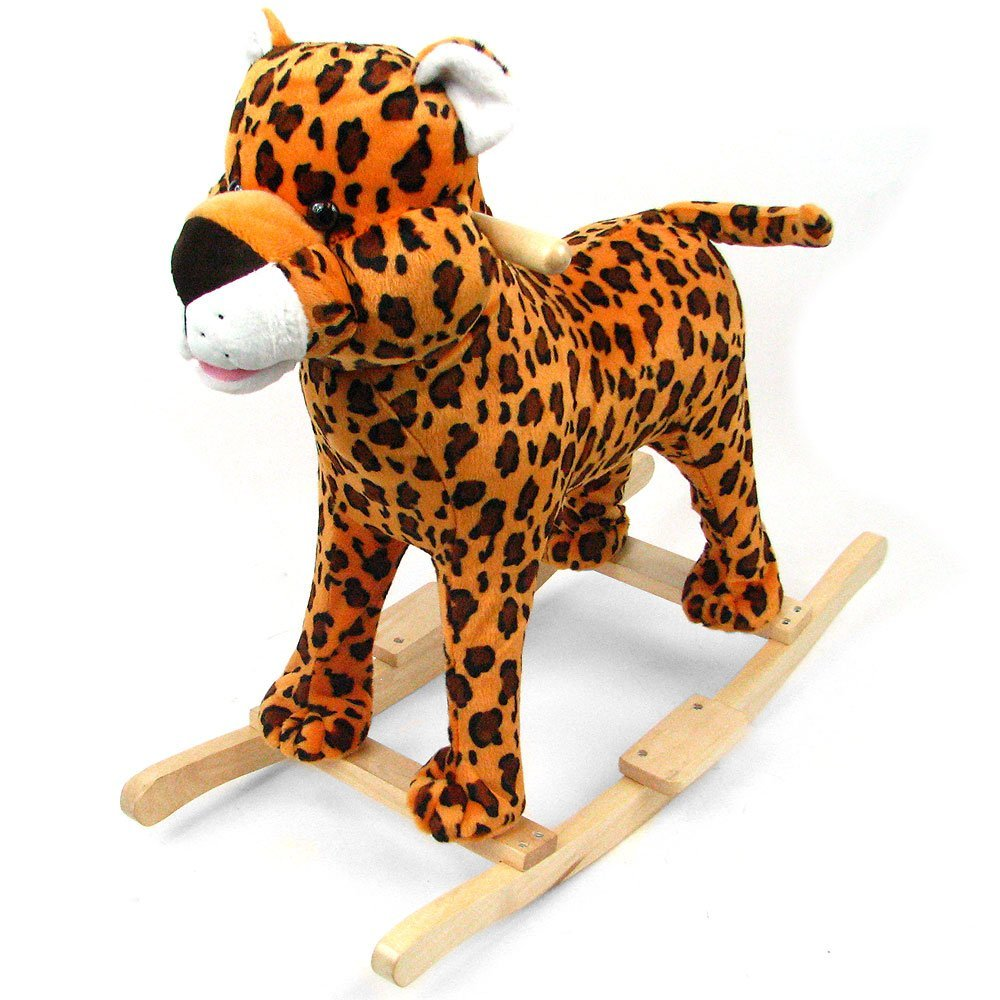 Happy Trails Plush Cheetah Rocking Animal with Sound